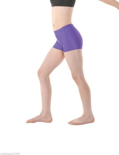 Micro Hipster Shorts Hot Pants Nylon/Lycra Gymnastics Dance Freestyle Purple